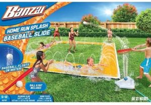 #10. BANZAI Homerun 14ft x 14ft Splash Baseball Slide