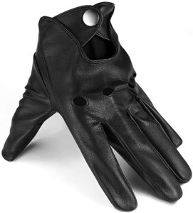 10. Driving Gloves, Thin Black Leather Gloves Mens