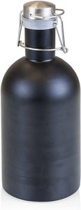 #10. Stainless Steel Beer Growler -64-Ounce, Black Matte Finish