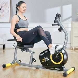 #10. pooboo Recumbent Indoor Exercise Bike Stationary Magnetic