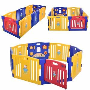 #10.JAXBABYY Baby Playpen 8 Panel Play Center
