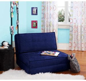 #11 Your Zone - Flip Chair Convertible Sleeper Dorm Bed Couch Lounger Sofa Multi-Color New (Blue)