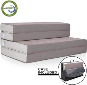 #12 BEST Choice Products 4in Thick Folding Portable Queen Mattress Topper w