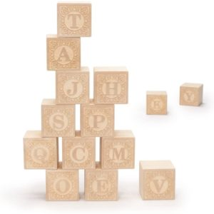 #12 Uncle Goose Uppercase Alphablank Blocks - Made in USA