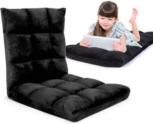 #2 Gaming Floor Sofa Adjustable Chair for Adults & Kids – Comfortable Foam Seat & Removable Lounger Cover – Transformable Folding Sleeper Lounge Features 14 Reclining Positions from Flat to 90°