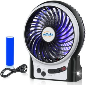 #2 efluky 3 Speeds Mini Desk Fan