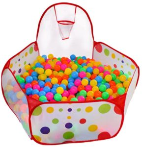 2. KUUQA Ball Pit Play Tent with Basketball Hoop