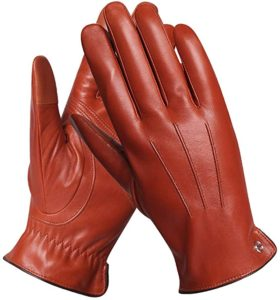 2. Luxury Mens Touchscreen Driving Gloves