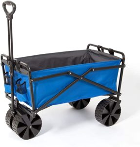 3. Seina Manual Steel Frame Folding Garden Cart