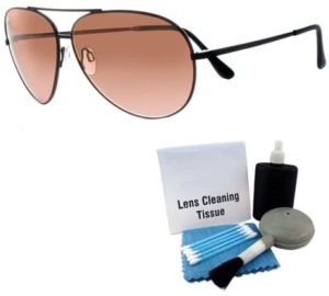 #4 Serengeti 5222 Aviator Photochromic Sunglasses (Large Universal Fit, Unisex) with Case and Sunglass Care Kit (2 Items)