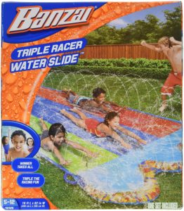#4. BANZAI Triple 16Ft Racer Water Slide