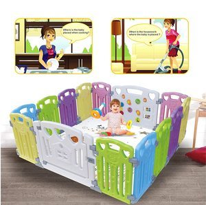 #4. Baby Playpen Activity Centre for Kids Safety Play Yard