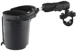 #4. RAM Level Cup Drink Holder, Handlebar U-Bolt Base -16oz