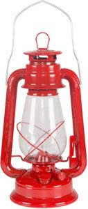 4. Stansport Small Hurricane Lantern (Red)
