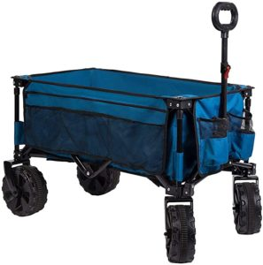 4. Timber Ridge Folding Wagon Collapsible Utility Shopping Cart