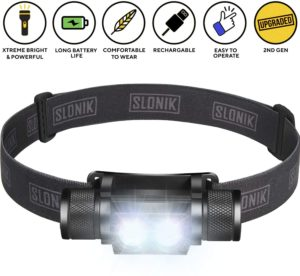 #5 SLONIK 1000 Lumen Rechargeable Headlamp
