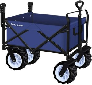 5. BEAU JARDIN Folding Push Wagon Cart With Wheels