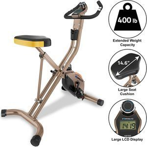 #5. Exerpeutic Gold Foldable Exercise Bike