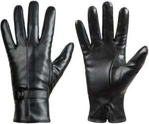 5. Womens Winter Leather Touchscreen Texting Warm Driving Gloves