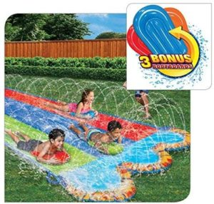 #5.Banzai Triple Racer Water Slide-16 Ft -with 3 body boards
