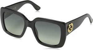 #6 Gucci GG0141S 001 Black GG0141S Square Sunglasses Lens Category 2 Size 53mm