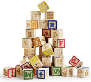 #6 SainSmart Jr. Wooden ABC Blocks 40PCS Stacking Blocks Baby Alphabet Letters