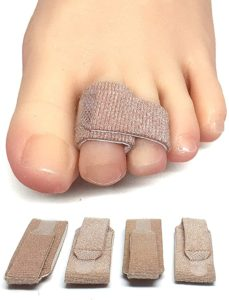 #6 ZenToes Broken Toe Wraps 4 Pack Cushioned Bandages Hammer Toe Separator Splints