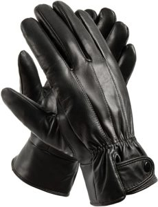 6. Anccion Men's Genuine Leather Warm Lined Driving Gloves