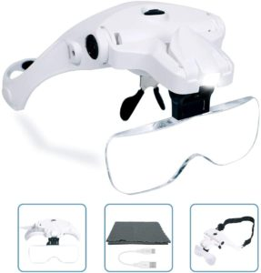 6. USB Charging Head Magnifier with LED Light