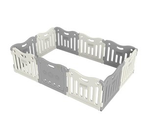 #7. Baby Care Play Pen, Mat Fun zone (Grey)