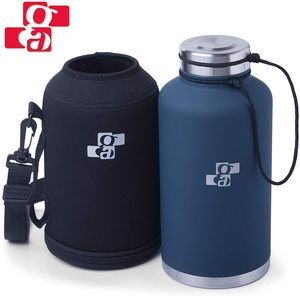 #7. GA Beer Growler Water Bottle Insulated Stainless Steel Vacuum 64 oz
