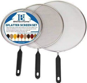 #7. Grease Splatter Stainless Steel Screen For Cooking