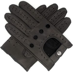 7. Harssidanzar Mens Leather Driving Gloves Unlined