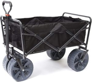 7. Mac Sports Collapsible All Terrain Utility Wagon Beach Cart (Black)