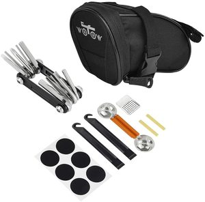 #7. WOTOW Bike Saddle Bag Repair Tool Kit Set 14-in-1 multi-Function