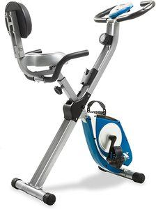 #7. XTERRA Fitness Folding FB350 Exercise Bike, Silver