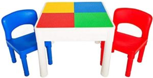 #7.PlayBuild 4 in 1 Kids Activity Play Table Set