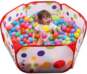 8. Aeroway Kids Ball Pit Playpen with Zippered Storage Bag