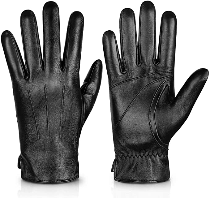 8. Genuine Sheepskin Leather Gloves For Men