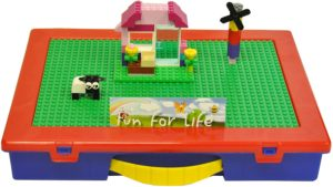 #8. Lego Fun for Life Table Organizer with GreenBlue Building Plate