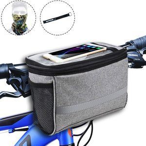 #8. MATTISAM Bike Handlebar Front Bag