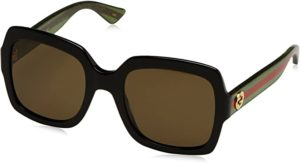 #9 Gucci 0036S 002 Black 0036S Square Sunglasses Lens Category 3 Size 54mm