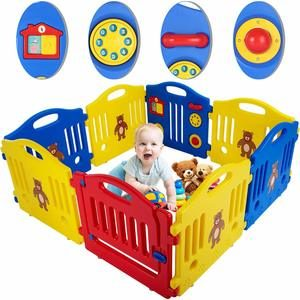 #9. Baby Playpen for Baby 8 Panel Playard