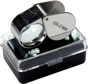 9. HTS 202A0 Stainless Steel Jeweler's Singlet Loupe
