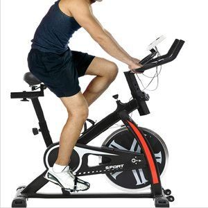 #9. Indoor Exercise Spinning Cycling Bike with LCD Display