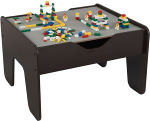 #9. KidKraft 2-in-1 (GrayEspresso) Activity Play Table …