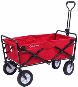 9. KingCamp Folding Utility Wagon Beach Cart