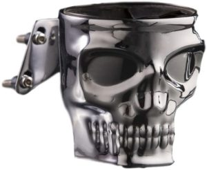 #9. Kruzer Kustom Kaddy Skull Motorcycle Chrome Cup Holder