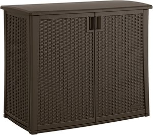 #1. Suncast Elements Outdoor 40-Inch Wide Cabinet