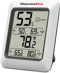 1. ThermoPro TP50 Digital Hygrometer Indoor Thermometer